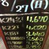 \8/27 本日の貴金属相場を更新致しました!高価買取!!/