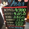 \2/25 本日は日曜日の為変動はございません!貴金属は大阪屋!/