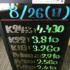 \8/26 本日は日曜日の為相場の変動はございません!貴金属は大阪屋!/