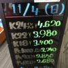\11/4 本日は日曜日の為相場の変動はございません!貴金属は大阪屋!/