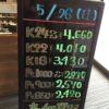 \5/26 本日は日曜日の為変動はございません!貴金属は大阪屋!/