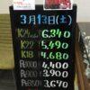 <3/13>高価買取の大阪屋!本日の金プラチナ買取価格をお知らせします!