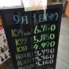 <9/1>高価買取の大阪屋!本日の金プラチナ買取価格をお知らせします!