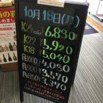 <10/18>高価買取の大阪屋!本日の金プラチナ買取価格をお知らせします!